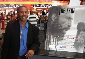 "Antiguan Filmmaker Howard Allen in Los Angeles at the RAVE Cinema where HAMAfilms feature film ""The Skin"" was screened during Pan African Film Festival in February 2014."
