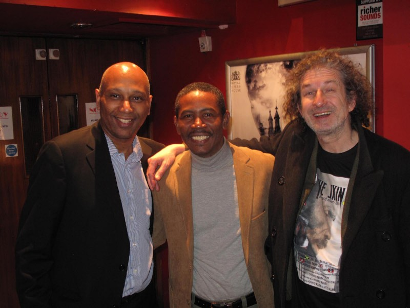 Ron Belgrave, Sankofa Televisual; Howard Allen, Director of The Skin; and Actor Jeff Stewart at the London premiere of The Skin on Thursday, December 18, 2014.