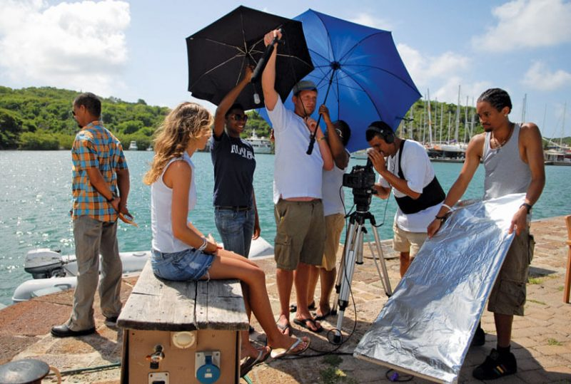 Scene from The Skin filmed on location at Nelson's Dockyard, Antigua & Barbuda. The location was mentioned as one of 10 Caribbean maritime movie destinations.